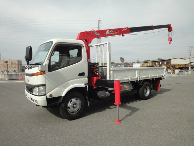 日野 デュトロ クレーン H15 3段・URA293 3.9t