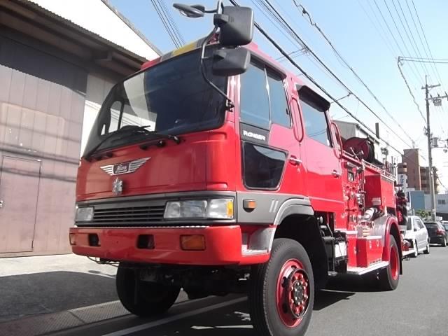 日野 レンジャー 消防車 4WD 消防車 ポンプ車 水槽タンク付き