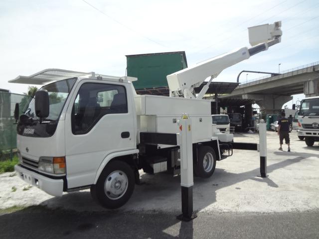 日産 アトラス 高所作業車 H13 SH15A 14.6M ウインチ