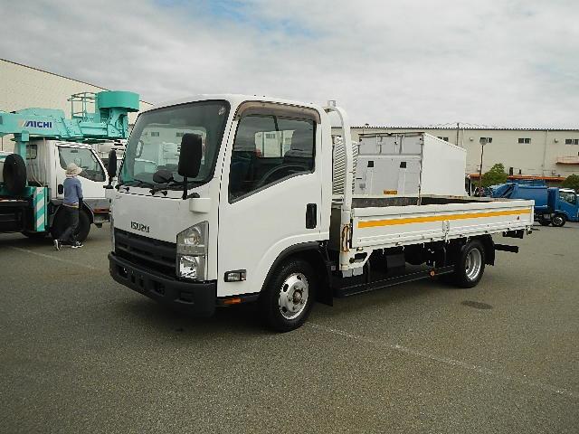 いすゞ エルフ トラック H23 2t 平ボディ① ワイドロング