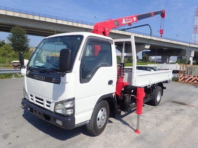 いすゞ エルフ クレーン H16 3段 2t 塗装済 標準ロング