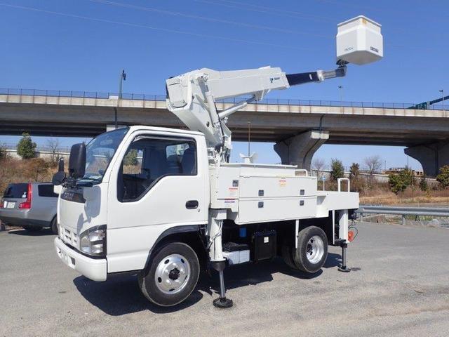 いすゞ エルフ 高所作業車 H18 AT-100TTE 電工 検付