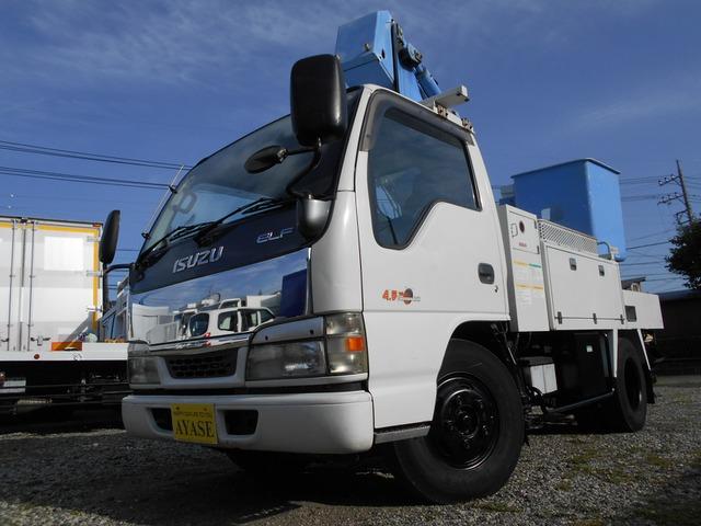 いすゞ エルフ 高所作業車 エスマック製高所作業車TS-100F5