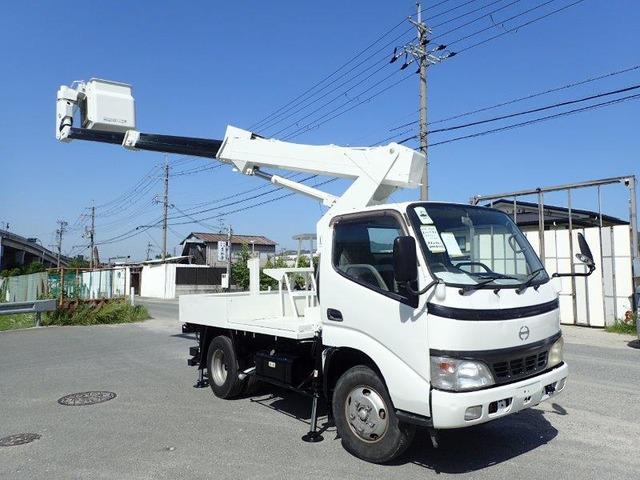 日野 デュトロ 高所作業車 H15 アイチSS10A 走行少 塗装済