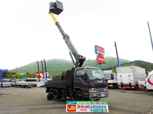 いすゞ エルフ 高所作業車 高さ9.9m 自走式 スカイムーバー