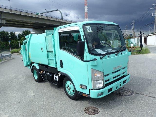 いすゞ エルフ 塵芥車 H22 2t 巻込ダンプ式 極東3.8㎥