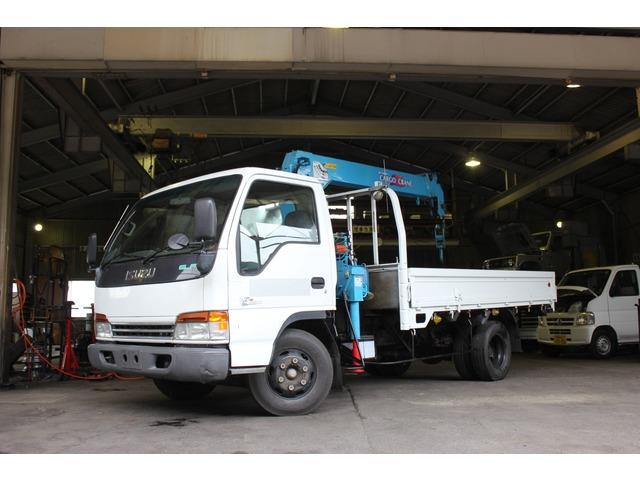 いすゞ エルフ 5.0 ワイド 高床 ディーゼル 重整備済み タダノ4段ラジコン付き