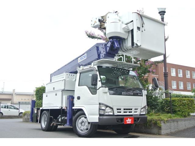 いすゞ エルフ 高所作業車 電工仕様アイチSH15B・サブバッテリー