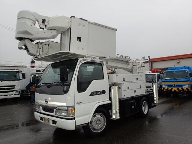 日産 アトラス 高所作業車 H14 14.7M サブバッテリ 走行少