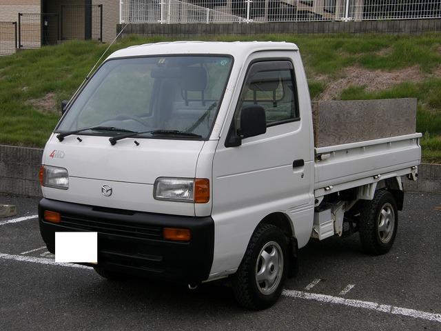 マツダ スクラムトラック  4WD 社外CD 社外12インチアルミ