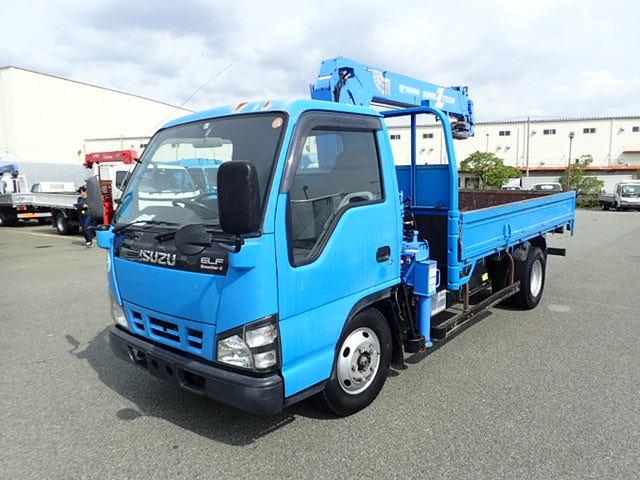 いすゞ エルフ クレーン H18 4段 荷台L370 3t 標準