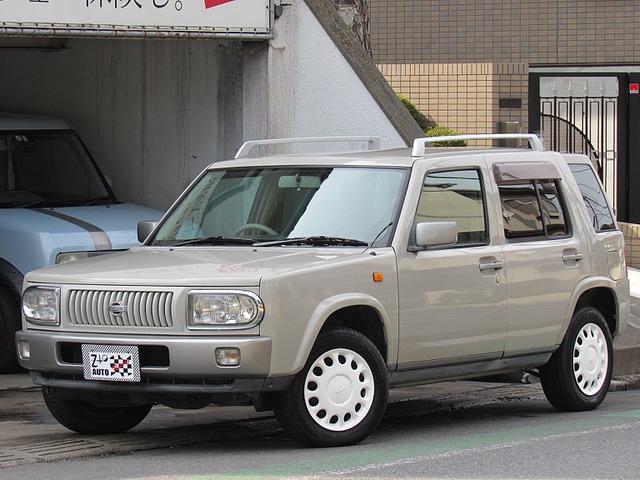 日産 ラシーン 1.5 タイプII 4WD 背面タイヤ CDデッキ