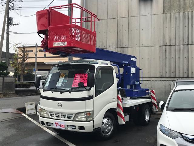 日野 デュトロ 高所作業車 12m アイチSS12A 200kg 5速MT