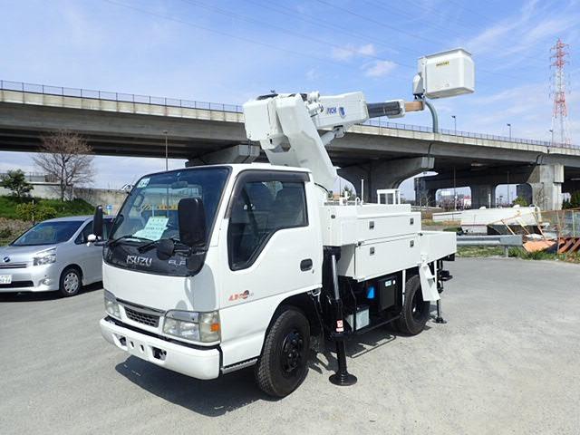 いすゞ エルフ 高所作業車 H14 SH106 電工ワンピン 塗装済