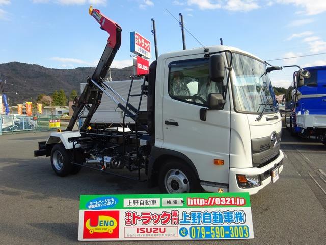 日野 レンジャー コンテナ車 フックロール 標準幅 3.7t積み