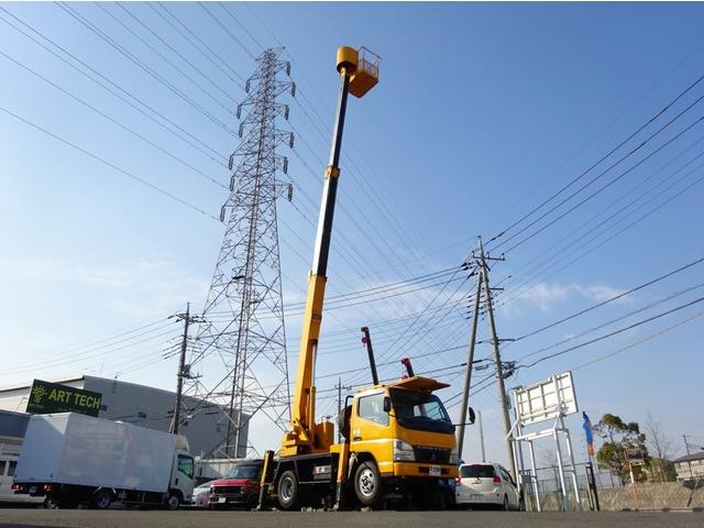 三菱ふそう キャンター 高所作業車 高さ12.3m 鉄バケット エスマック