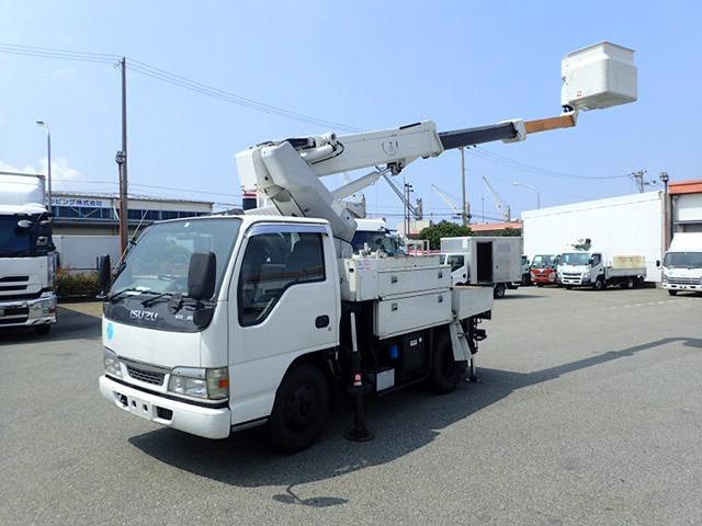 いすゞ エルフ 高所作業車 H15 SH09A ワンピン サブEG