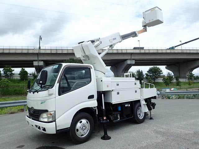 日野 デュトロ 高所作業車 H19 サブエンジンSH106 ワンピン