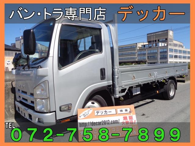 いすゞ エルフ 3.0 ロング フルフラットロー ディーゼル 2トン 標準 荷寸437-180 荷塗装