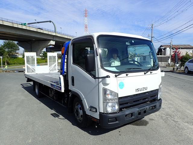 いすゞ エルフ 積載車 H25 セルフローダ キャリアカー