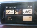 エアコン表示はナビのモニターにされます。