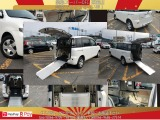 車いす移動車/スロープタイプ/電動固定装置付/ニールダウン/ナビTV・DVD・Bluetooth/バックカメラ/キーレス