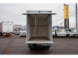 荷台内寸:308×161×199 日本フルハーフ/DLK ラッシングレール1段(130cm) R跳ね上げ式扉/下部アルミアオリ/足掛けステップ付(引出し式) 荷室灯1個