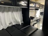 コースター キャンピング 全席革調黒シートカバー新調済