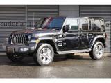 ジープ・ラングラーアンリミテッド サハラ 4WD ワンオーナー 禁煙車 黒革シート