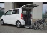 ワゴンR ウィズ 車いす移動車 リヤシート付 電動固定式 スローパー