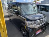 N-BOXカスタム G ターボ パッケージ 4WD 両側パワスラ ブラックパール SDナビ
