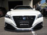 クラウンハイブリッド 2.5 RS サンルーフ黒革車高調WORK20アルミ