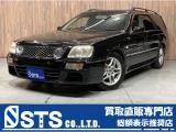 ステージア 2.5 25t RS FOUR V プライムエディション 4WD サンルーフ 黒レザー 社外...