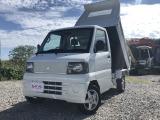 ミニキャブトラック 楽床ダンプ 4WD 新明和PTOダンプ MT ナビ 新品シートカバー
