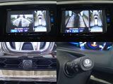 フロントカメラも装備しております。アラウンドビューモニターとあわせて使用して安全運転ができます。