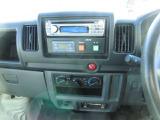 冷凍操作パネルとCDラジオ。