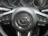 ステアリングに「オーディオスイッチ」「クルーズコントロールスイッチ」が付いています。運転中もハンドルから手を離さずに操作する事ができます。