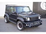 ジムニーシエラ 1.5 JC 4WD ROWENエアロ ローダウン16AW 8インチナビ