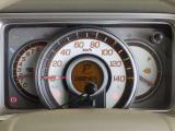 スピードメーターを中心とした見やすいメーターです