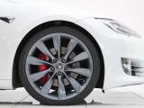 モデルS P100 D 21インチアルミ白革シートカーボンデコール