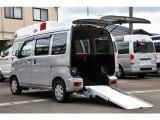ハイゼットカーゴ スローパー SAIII リヤシートレス仕様 折り畳み補助シート付き