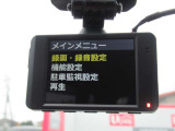 【ドラレコ】最近の装着率の高いドライブレコーダー装備です。万が一の時の証明やアオリ運転の抑制効果もありますね。